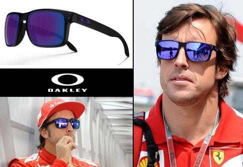 63bd20b584b Fernando Alonso luciendo unas  Oakley  Holbrook