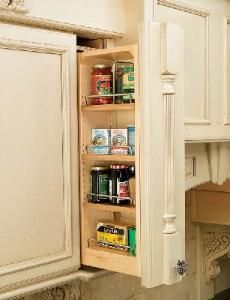 6 Inch Wall Cabinet Filler Organizer Filler Cabinet Pull Out With Adjustable Shelves And
