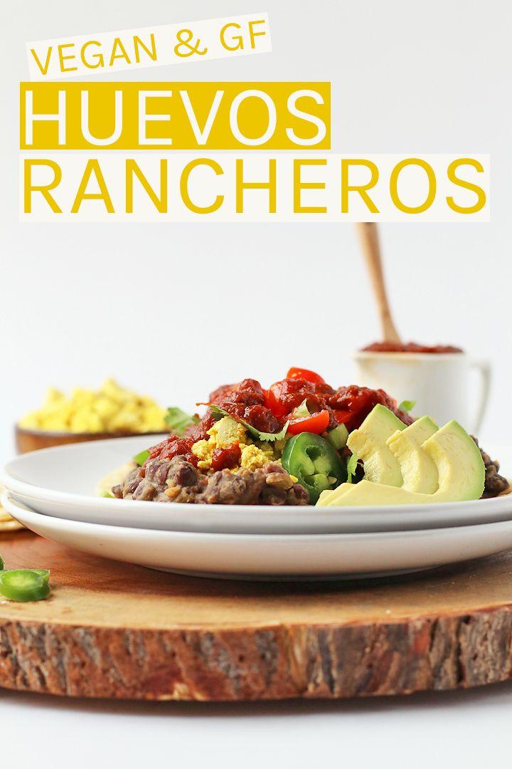 Vegan Gluten Free Huevos Rancheros Made With Scrambled