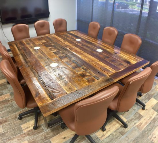 Exceptionnel Orlando Reclaimed Wood Table U0026 Floor