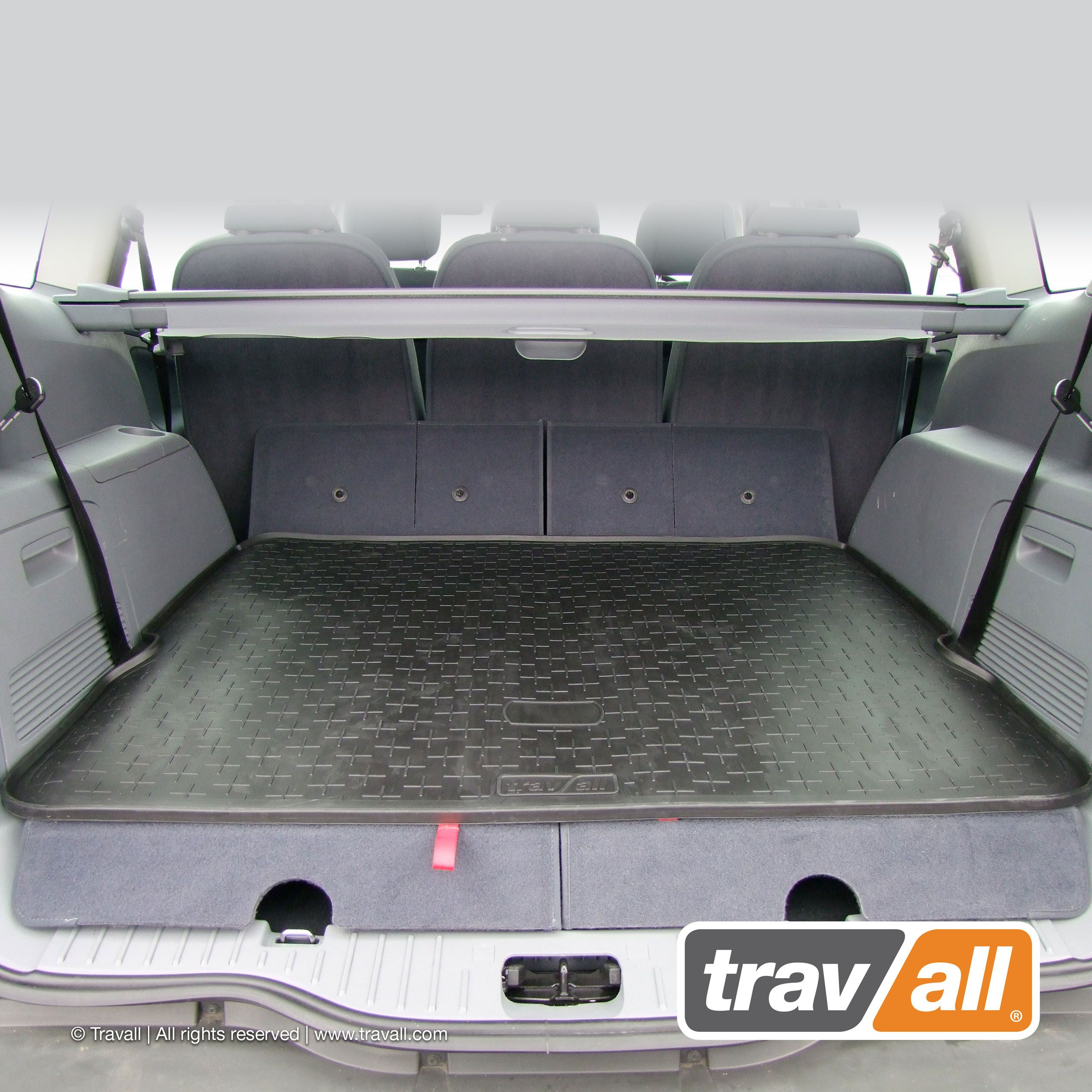 Travall Liner For Ford S Max 2006 2015 Vehicle Specific Rubber Moulded Boot Mat And Liner Combined For Protecting Your Boot Floor Ford Liner Car Mats