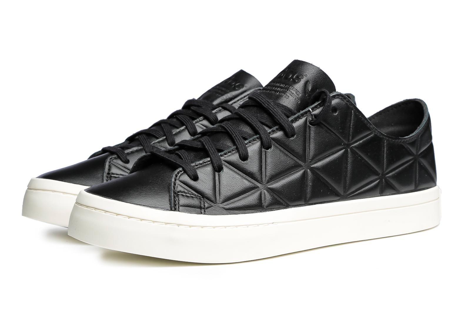 adidas + originali + corte + vantage + polygone + nero + adidas courtvantage