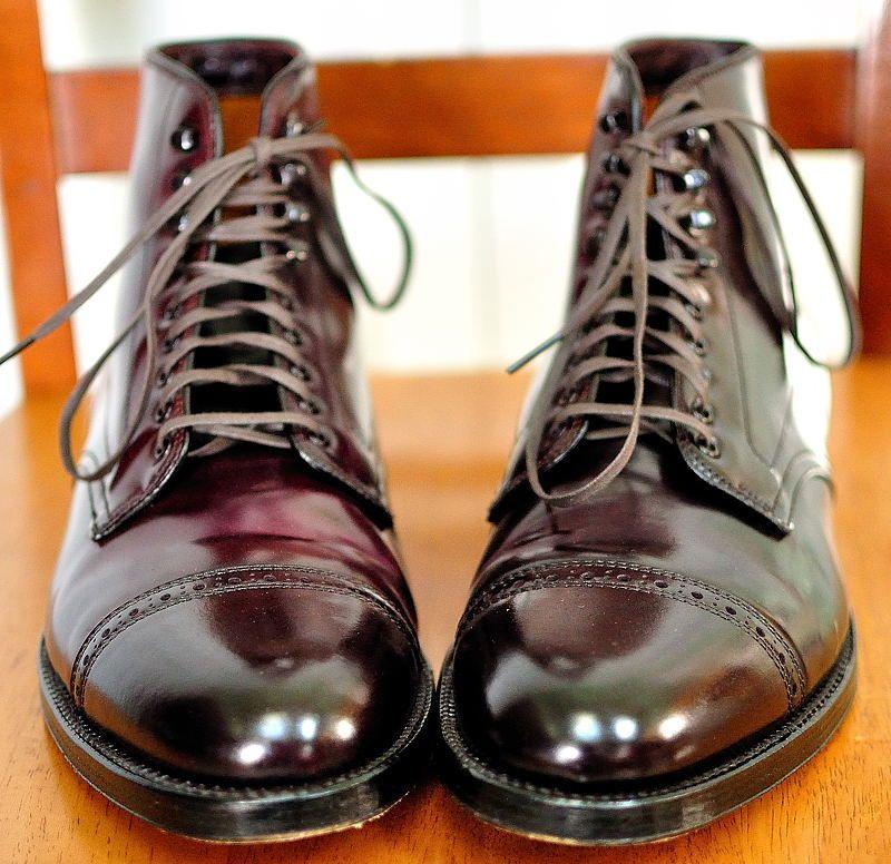 1fbe0929b6 Alden for J.Crew shell cordovan cap toe boots.  Aim2Win