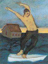 "Dances Through Disaster by Brian Kershisnik (Giclee Print) (12"" x 10"")"
