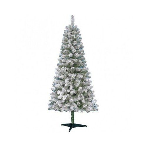 amazoncom non lit 6 foot greenwood pine flocked christmas tree green with white flocking 55 amazon - Christmas Tree Stand Amazon