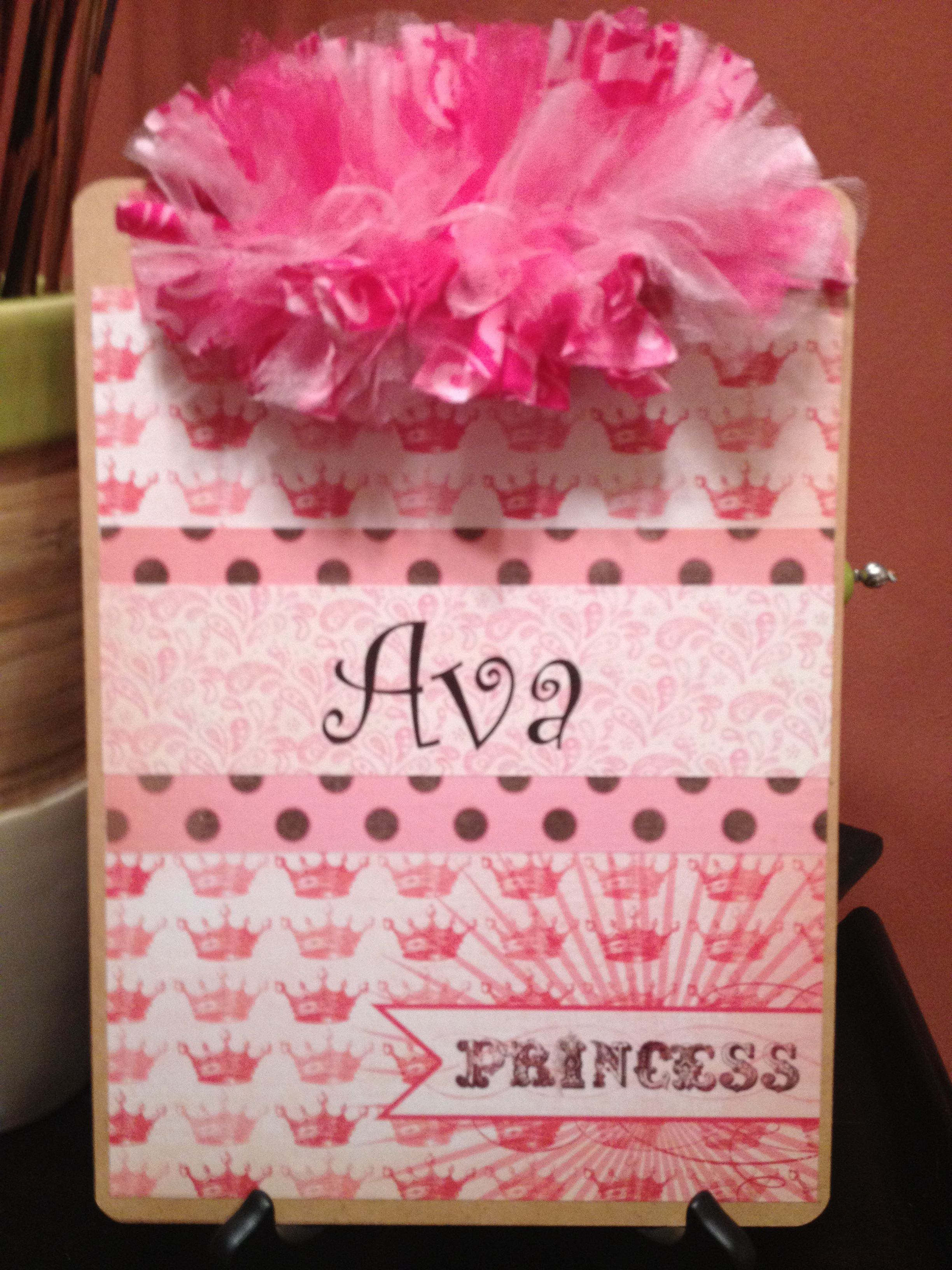 Pretty Princess decorated clipboard. & Pretty Princess decorated clipboard. | Clipboards | Pinterest ...