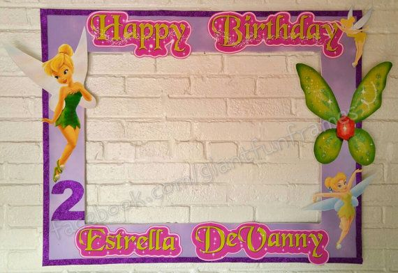 Tinker Bell Frame / Photo Booth / Photo Prop Digital File | Photo ...