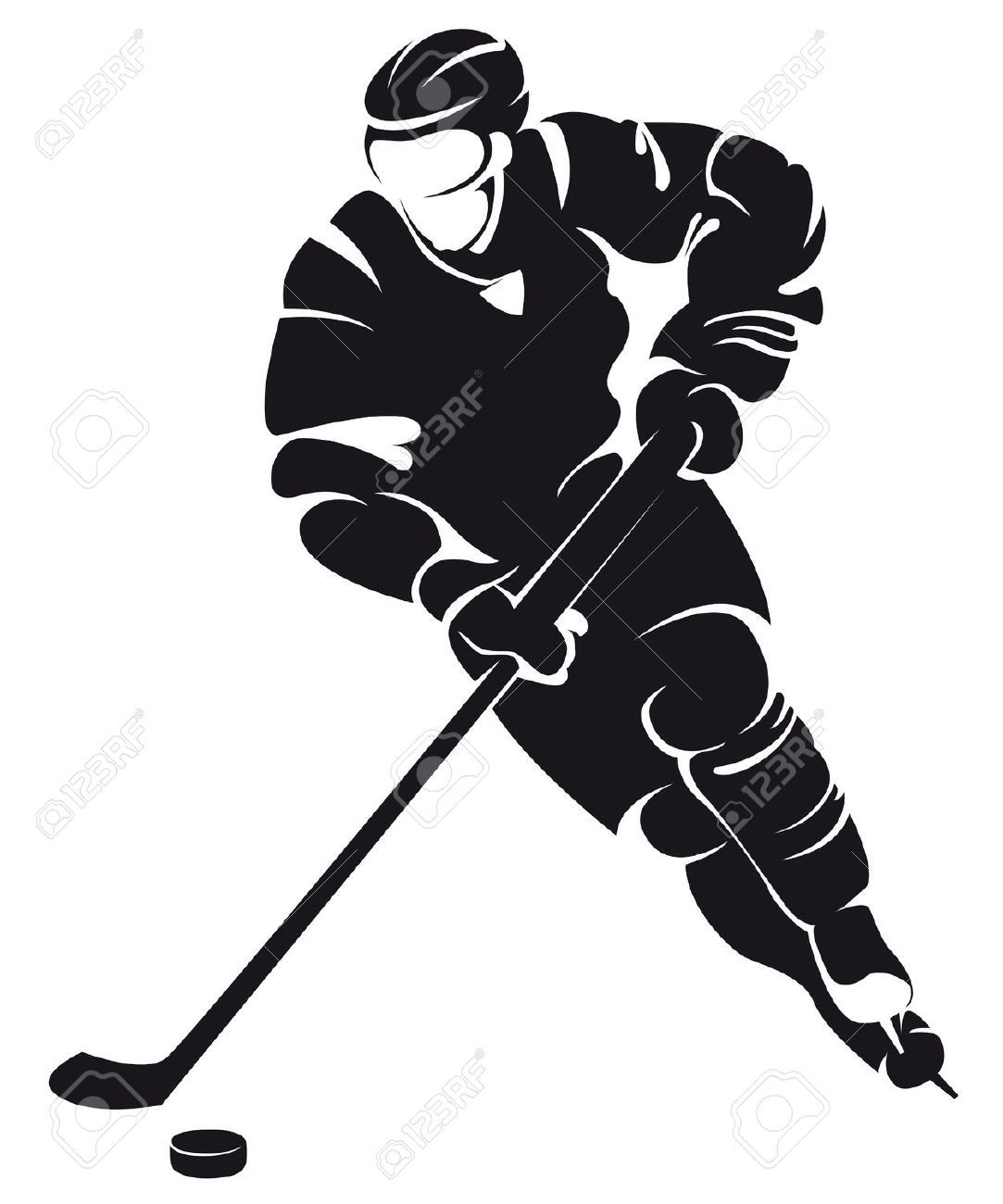Ice Hockey Clipart Black And White Origami Sword Diagrams Get Domain Pictures Getdomainvidscom Download