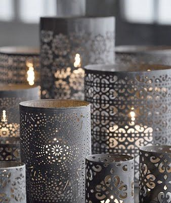Votive inspiration wrap punched papers around glass - Cortinajes ruiz ...