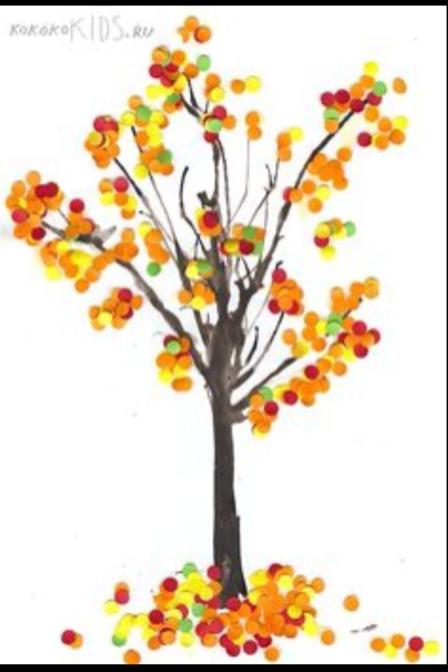 Great For Fine Motor Skills Using The Hole Punch Idea Fall Art And Coloured Paper Or Colour Your Own Then