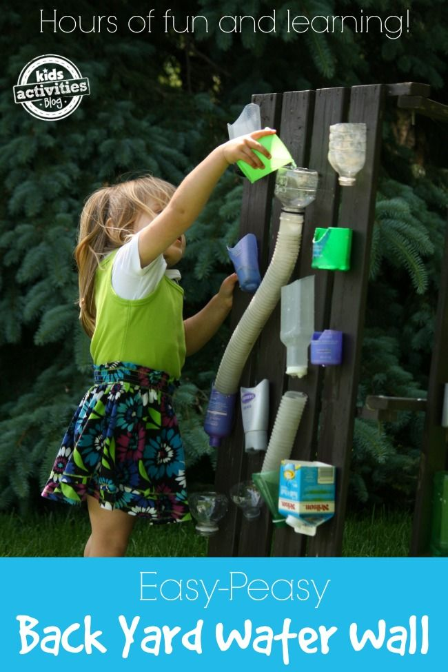 Easy Backyard Water Wall - how fun is this??  What an awesome kid activity for outside.