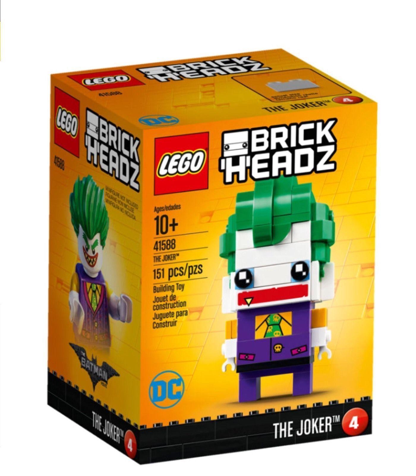 Lego 41588 brickheadz Le Joker Brand New Sealed Set