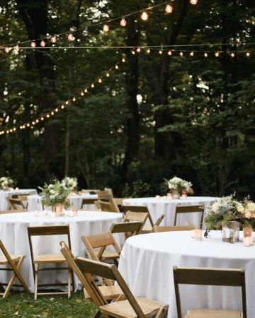 Midway Kentucky Wedding |  Simple Reception Decor