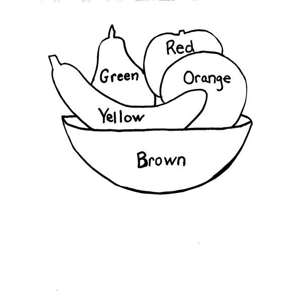 coloring pages vegetables preschoolers eating - photo#28