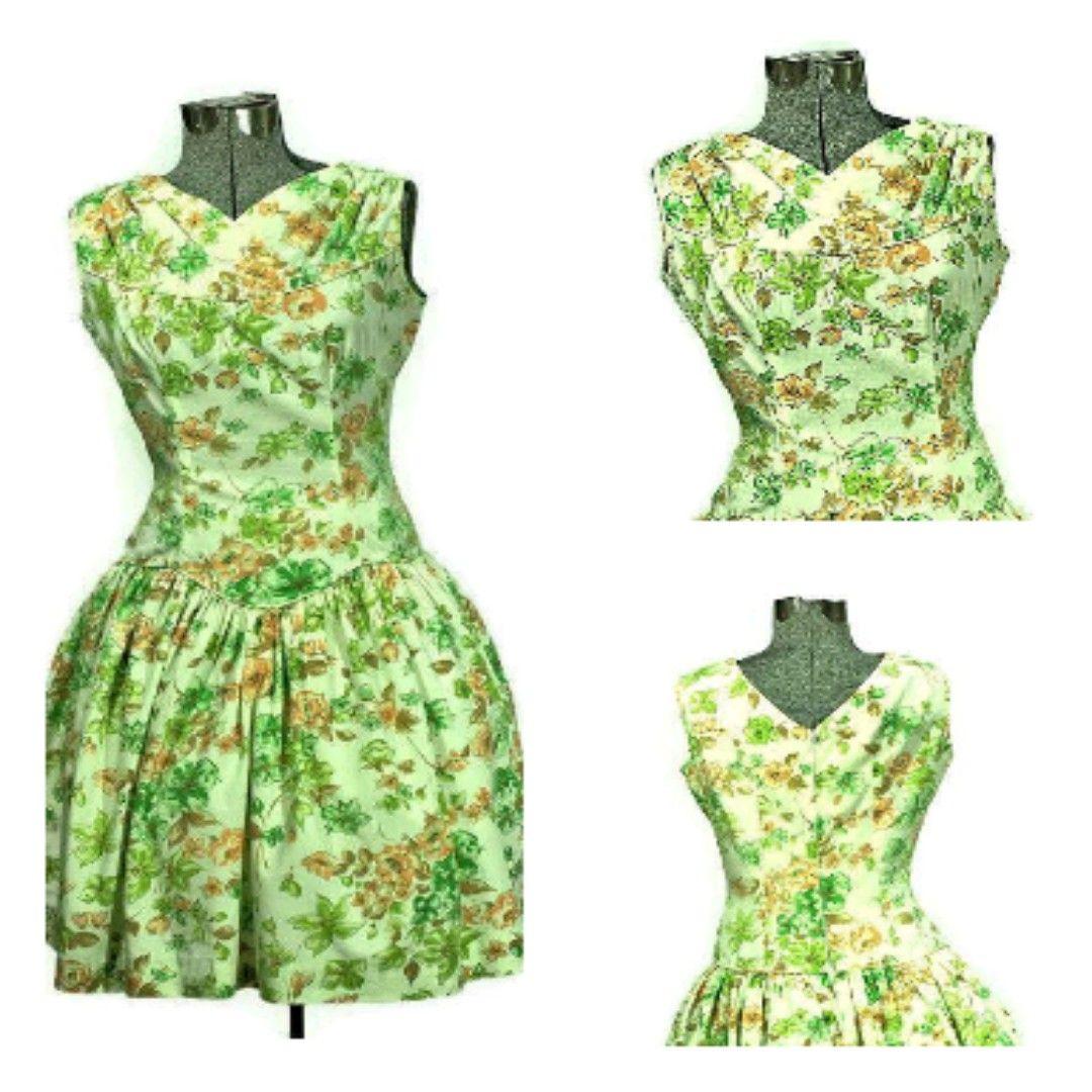Rockabilly 1950 S Mod O Day Of California Sunflower Cotton Dress Cottondress Vintagec Vintage Cotton Dress Vintage Clothing Online Vintage Clothing Stores