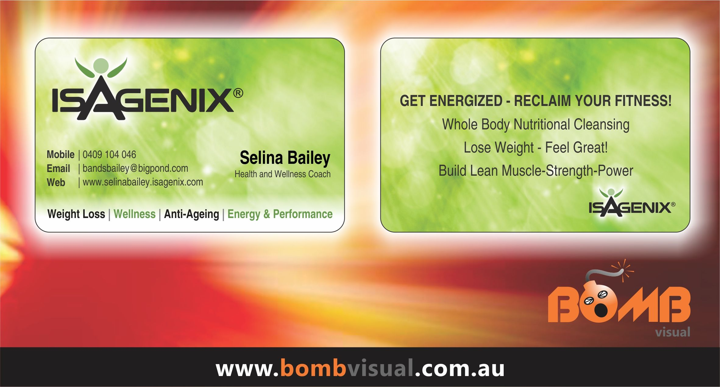 Isagenix Business Cards Australia Images - Card Design And Card Template