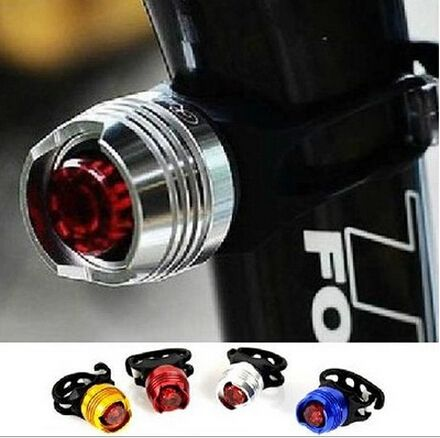 LED waterproof bike front rear tail helmet red flash lights safety warning lamp