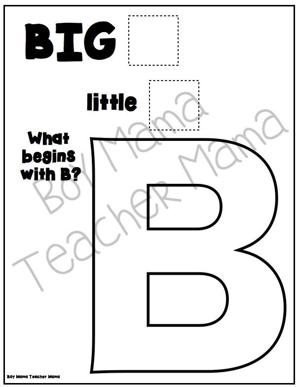 Teacher Mama: FREE Big A Little a Alphabet Book {After