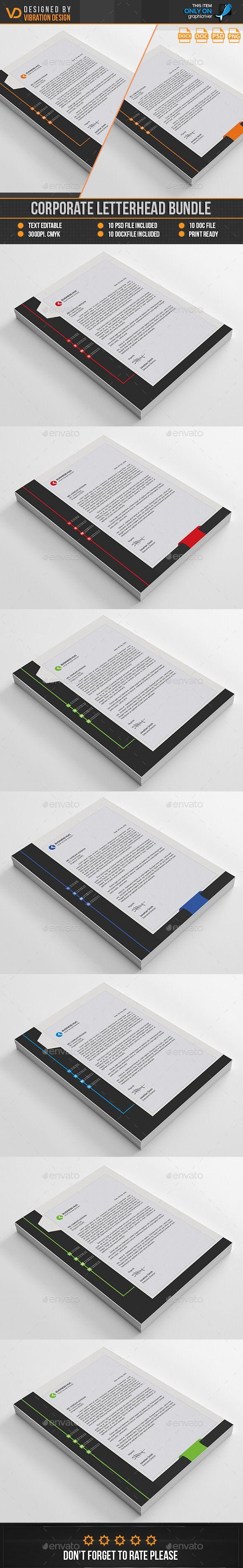 letter format on letterhead%0A Corporate Letterhead Bundle by kawsarnshimo