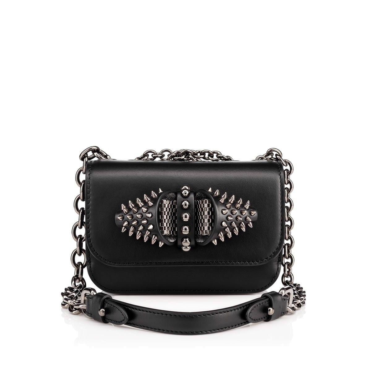 637328dfda0 CHRISTIAN LOUBOUTIN Sweety Charity mini chain bag Black Calfskin - Handbags  - Christian Louboutin. #christianlouboutin #bags # #