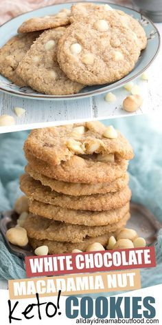 Can you believe your eyes? Chew white chocolate macadamia nut cookies that are actually KETO FRIENDLY? Hard to believe but true. Chewy and delicious with all the flavor of the classic. A sugar-free delight!  Can you believe your eyes? Chew white chocolate macadamia nut cookies that are actually KETO FRIENDLY? Hard to believe but true. Chewy and delicious with all the flavor of the classic. A sugar-free delight!
