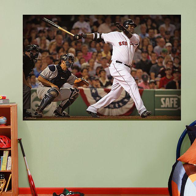 Boston Red Sox Logo Wall Decal MLB Baseball Sport Decor Mural Vinyl Sticker