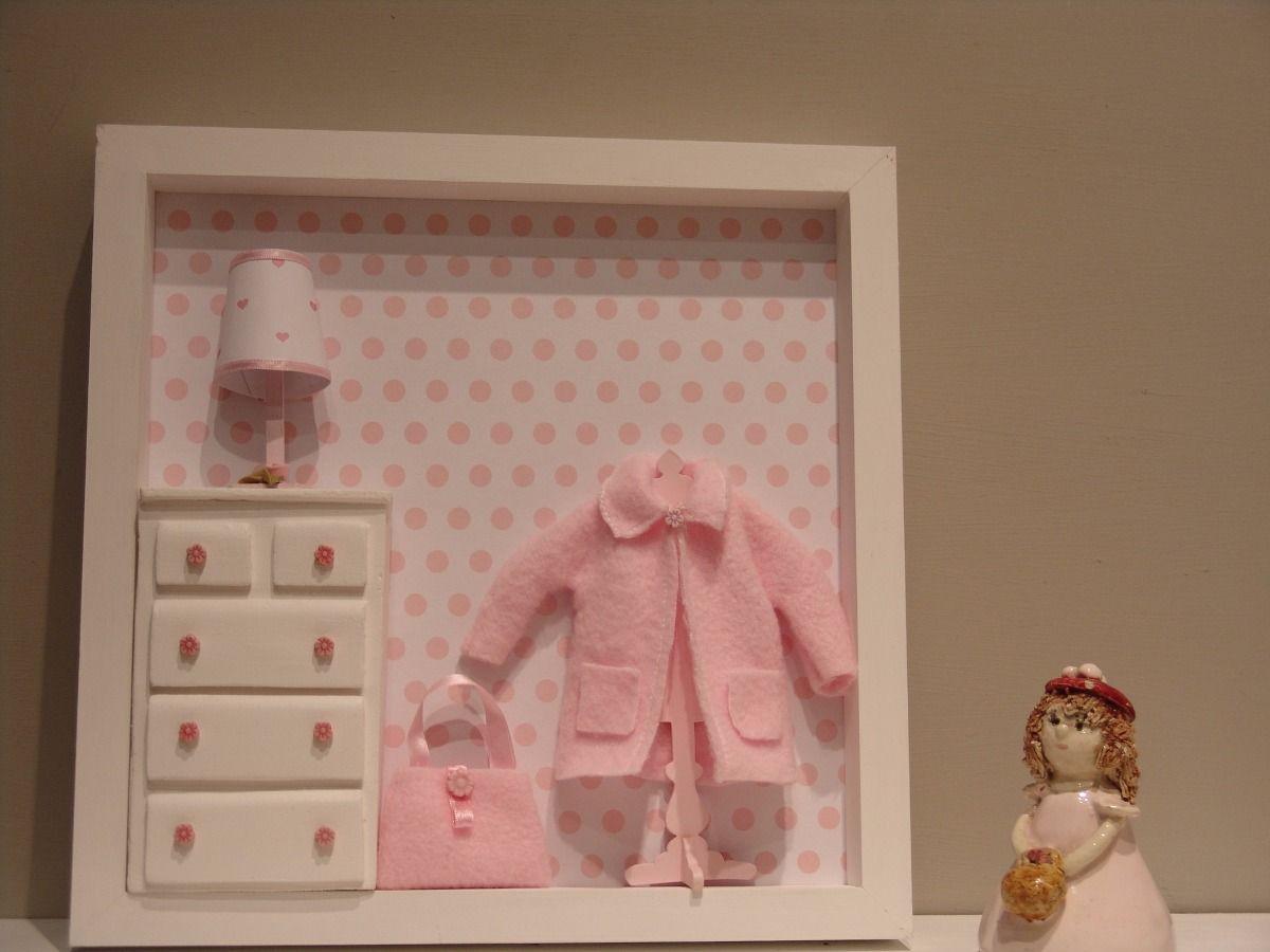 Cuadros para bebes nenas miniaturas con profundidad - Cuadro habitacion bebe ...