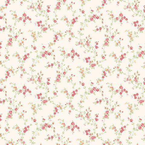 Papier Peint Miniature Shabby Chic Floral Rouge Caramel Cosy Cosy M0761 De  CWV Wallcoverings, Http