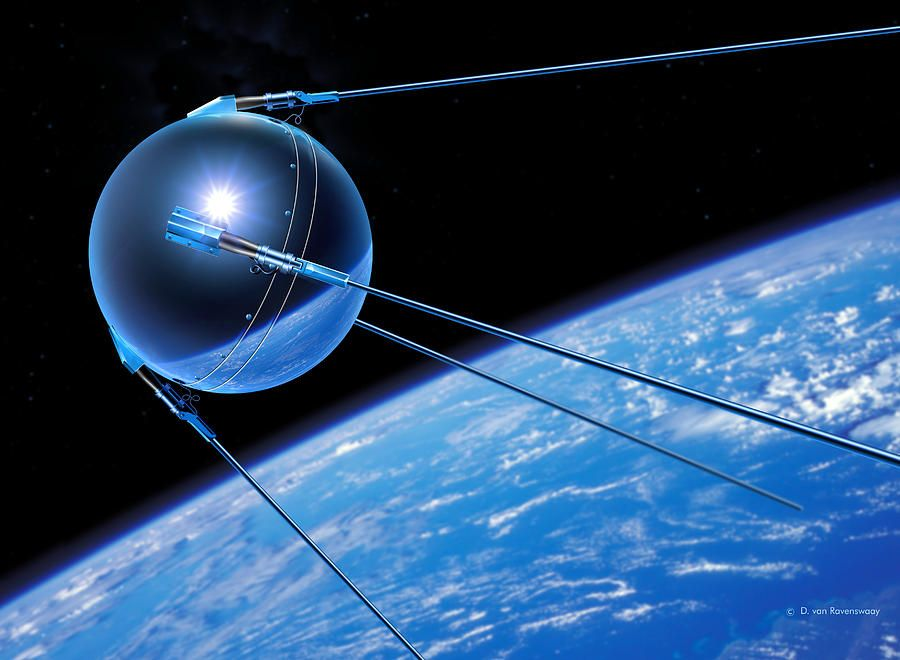000 Sputnik 1 Satellite Photograph Digital Photography's