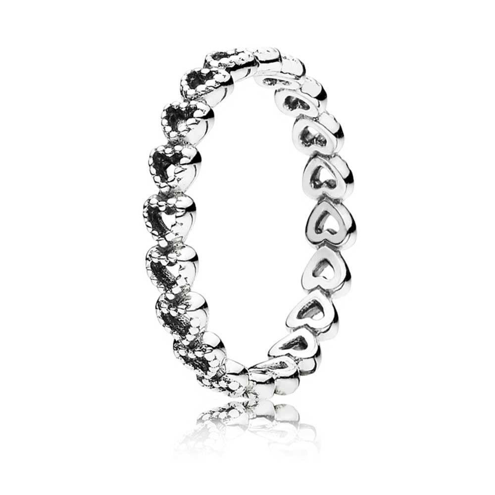 Pandora Band Of Hearts Ring 190980   Pandora sterling