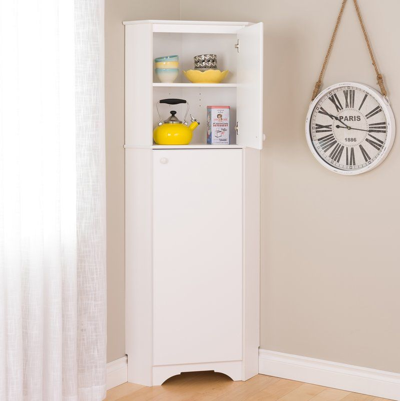 Crimmins 72 Kitchen Pantry Corner Storage Cabinet Corner Storage Corner Pantry Cabinet