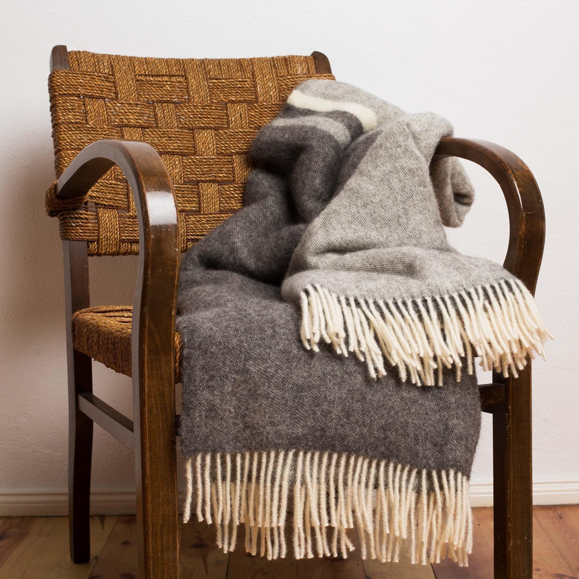 Decke Salakas In 2019 Wolldecke Decken Und Grau Braun