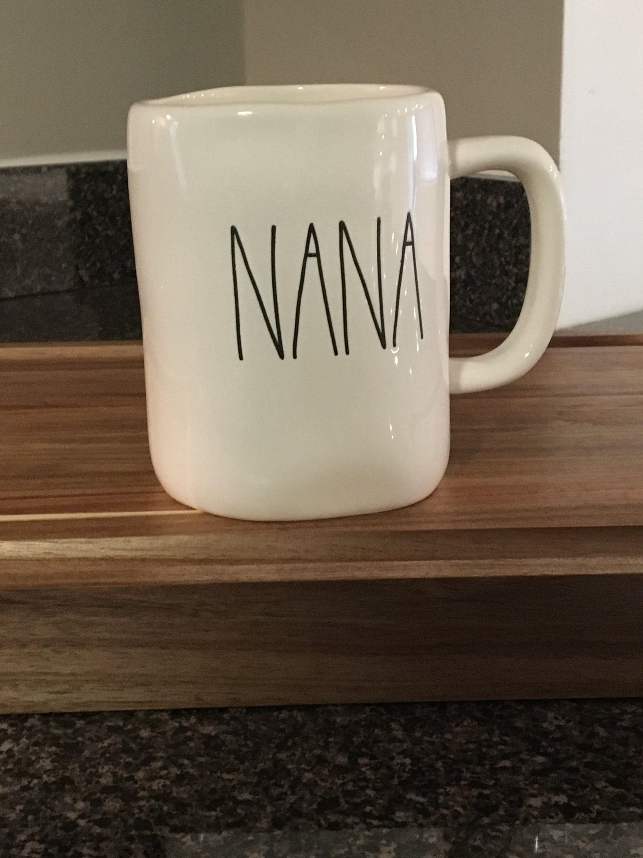 Rae Dunn Large Letters Nana Mug Mugs Large Letters Lettering