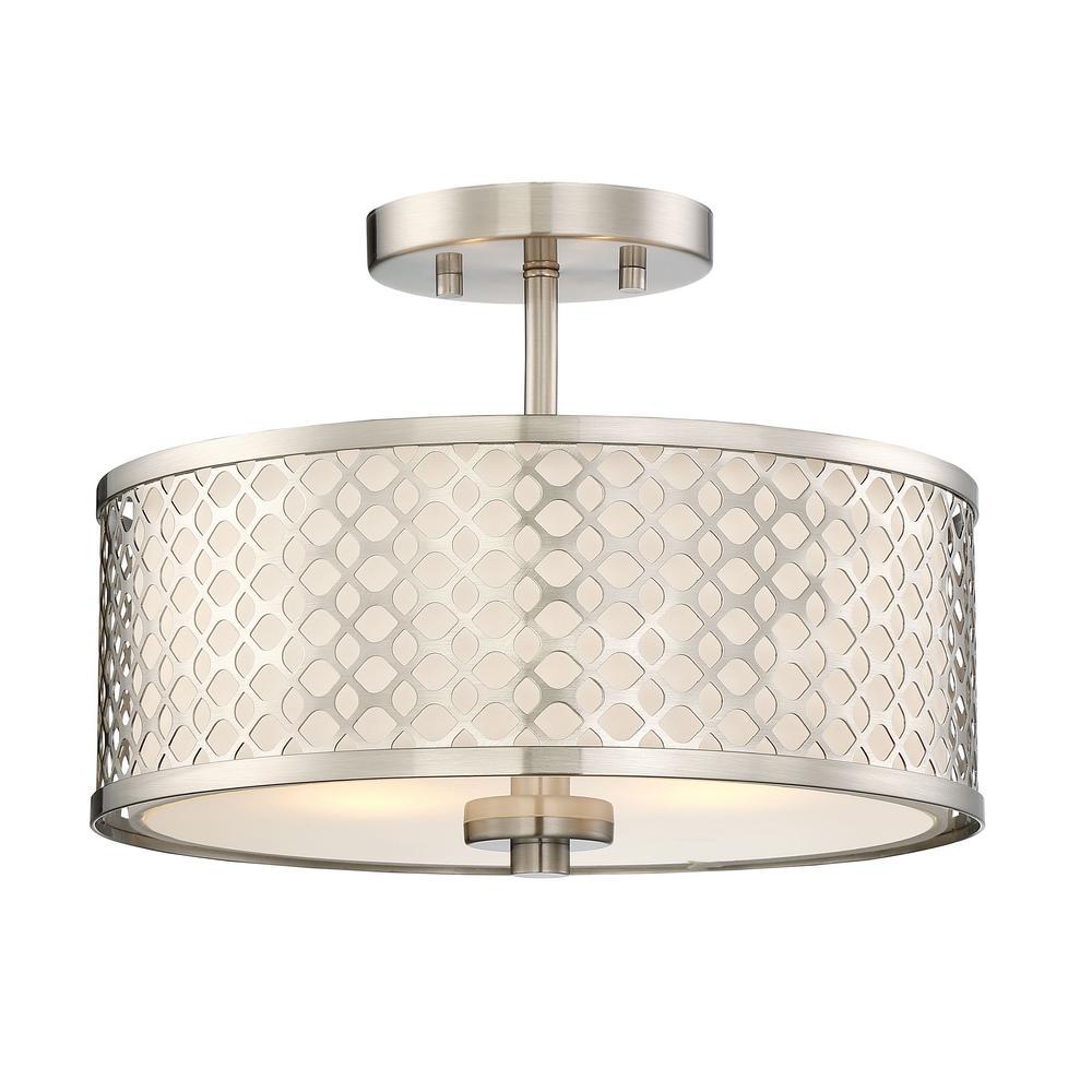 Filament Design 2 Light Brushed Nickel Semi Flush Mount In 2021 Semi Flush Mount Lighting Flush Ceiling Lights Semi Flush Lighting Brushed nickel semi flush ceiling lights