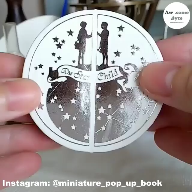 Japanese artist, Zhihui, is one up on miniature printed books, he creates miniature books that pop-up! These pop-up books are so appealing that one feels like popping them up again and again.