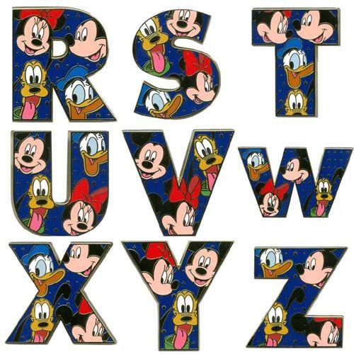 Your WDW Store - Disney Alphabet Pin - A through Z