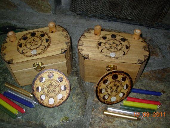 Lunar phase portable altar box