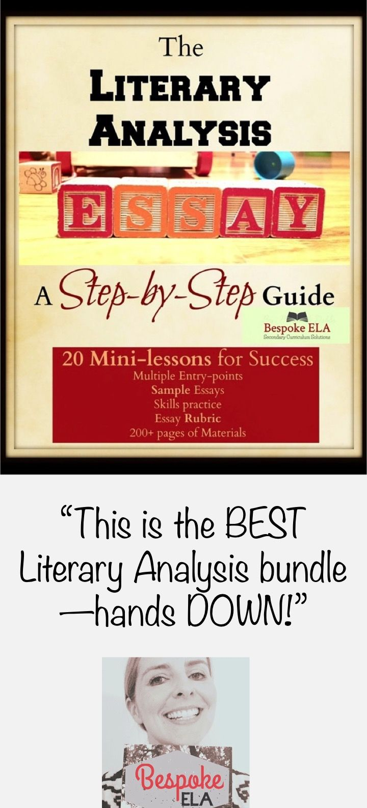 Essay On English Language This Is The Bestselling Product From Bespoke Ela It Contains   Minilessons For Guiding Students Through Writing The Literary Analysis  Essay High School Application Essay Examples also High School Essay Samples Mega Bundle The Literary Analysis Essay Guide In  Minilessons  Thesis For Argumentative Essay Examples