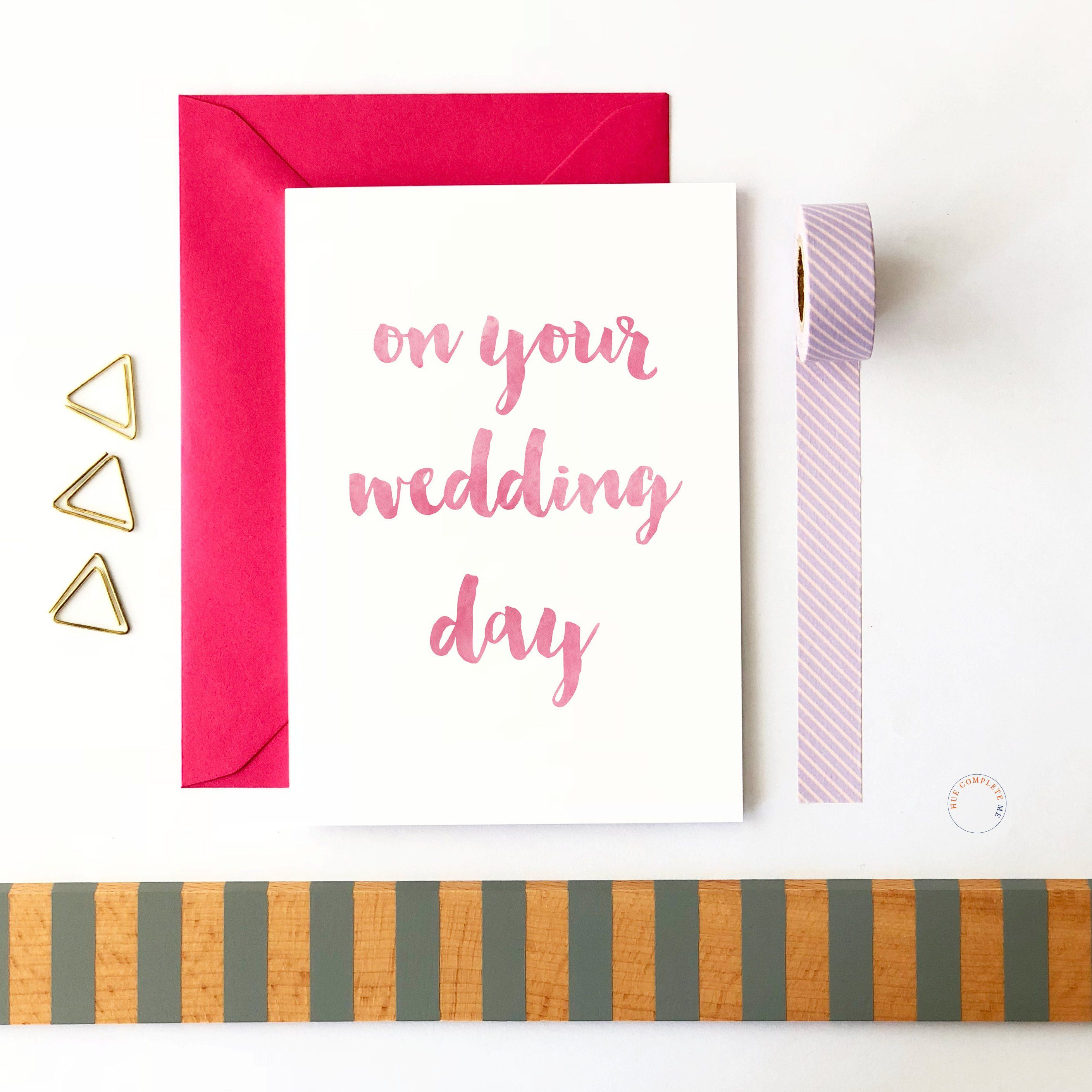 On Your Wedding Day Wedding Card Wedding Day Card Wedding Day