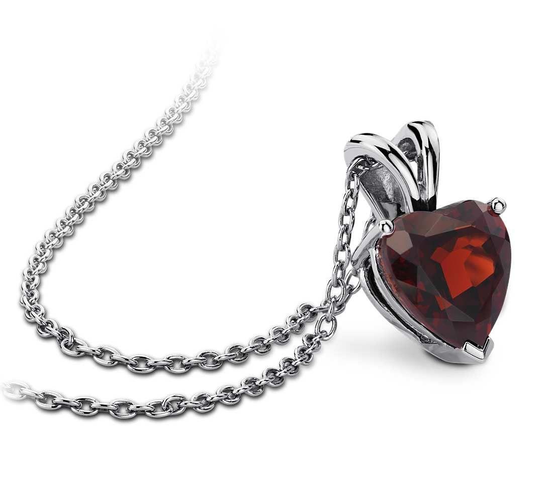Garnet heart pendant in sterling silver 8mm pretties garnet heart pendant in sterling silver 8mm mozeypictures Images