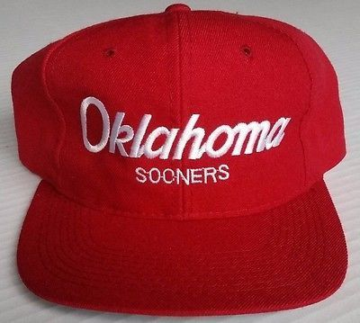 2958747ce1c0d Oklahoma Sooners Snapback Vintage Sports Specialties Script Hat Wool Rare OU  Cap