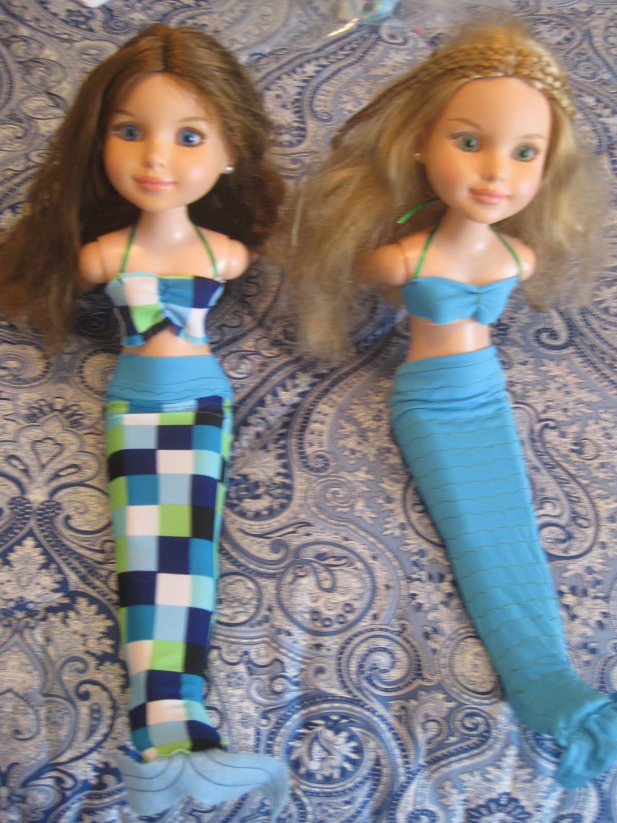 Doll Mermaid Tail Tutorial | Barbie doll clothes & accessories #1 ...