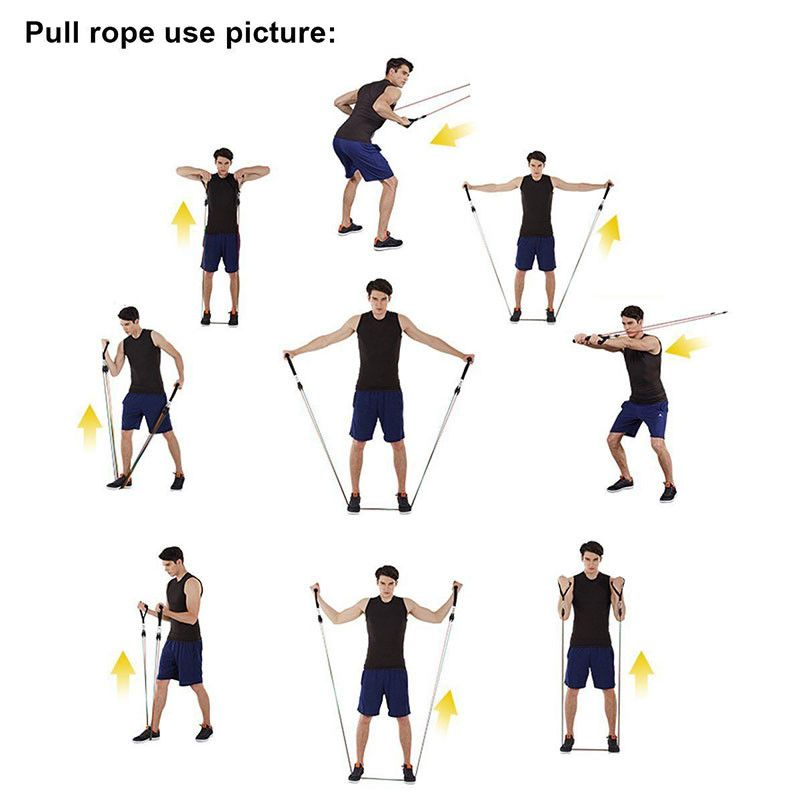 11pcs Set Sport Elastic Band Fitness Rubber Exercises Resistance Band Fit Shopy In 2020 Resistance Band Exercises Resistance Band Training Resitance Band Workout