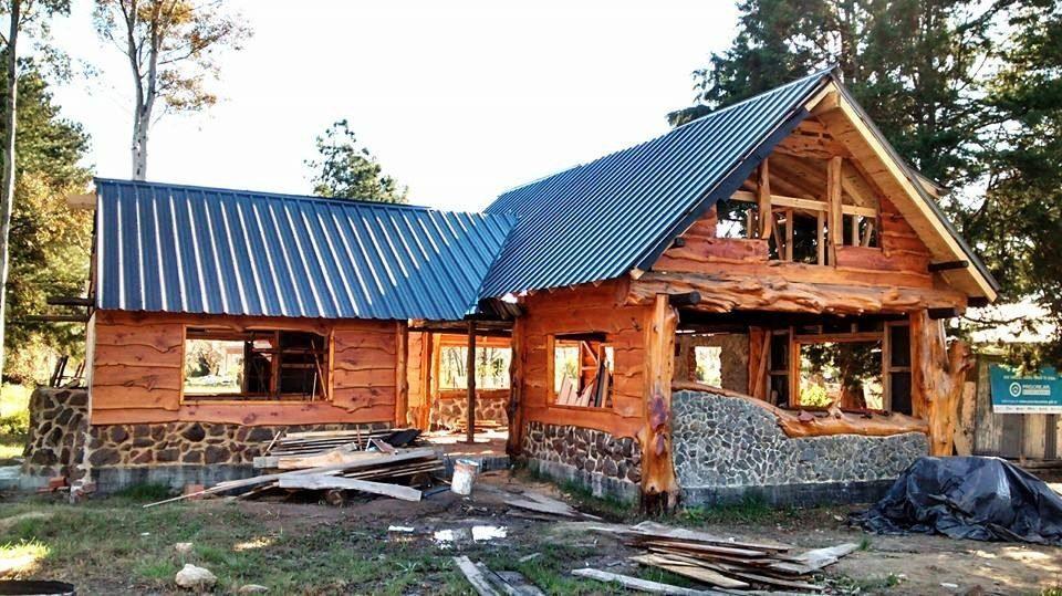 Caba as madera construccion fabricacion casa troncos - Construccion casa de piedra ...