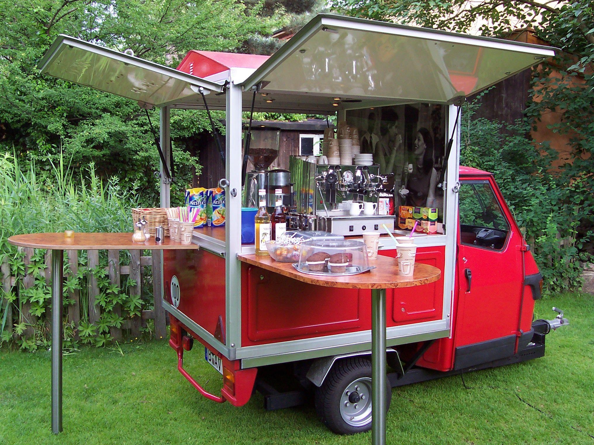 espresso & co - mobile espresso kaffee bar in berlin - piaggio ape ... - Fahrbare Küche
