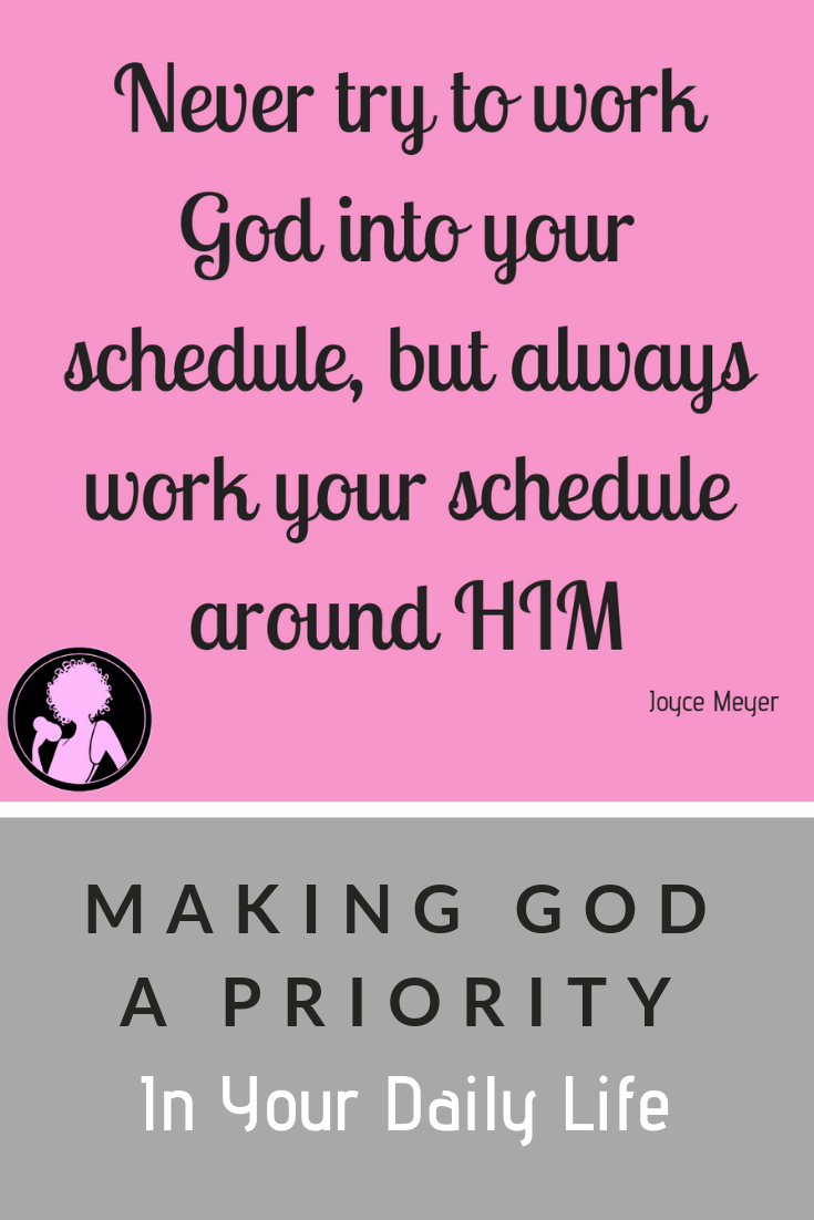 Steps to putting god first