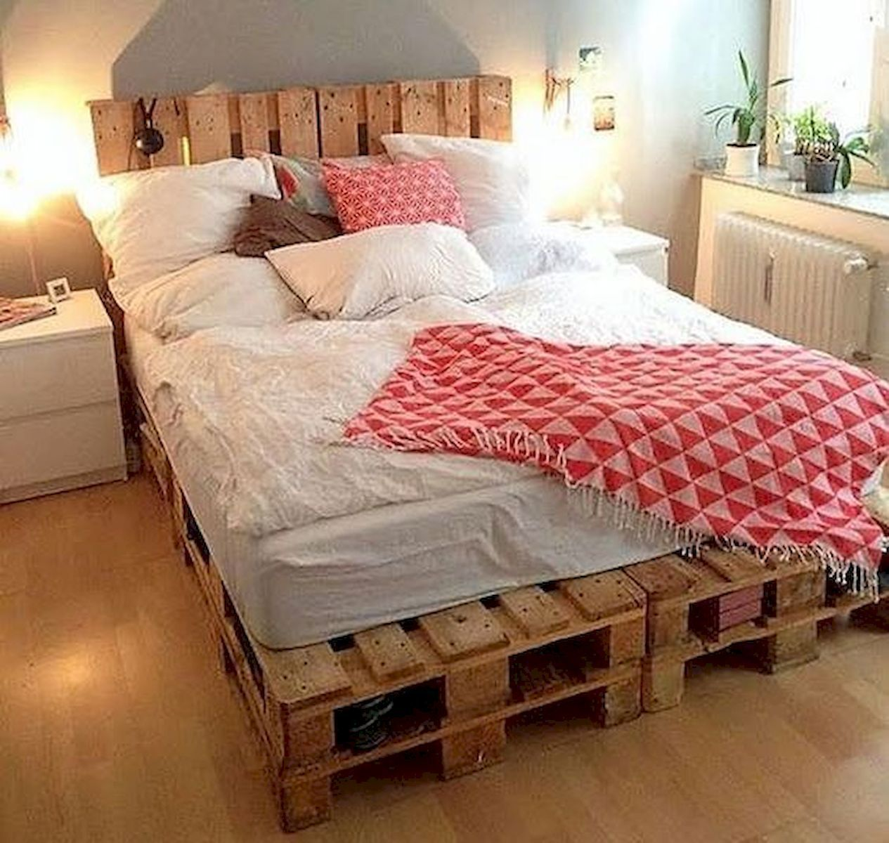 50 Creative Recycled Diy Projects Pallet Beds Design Ideas 13 Pallet Furniture Bedroom Remodel Bedroom Diy Pallet Bed