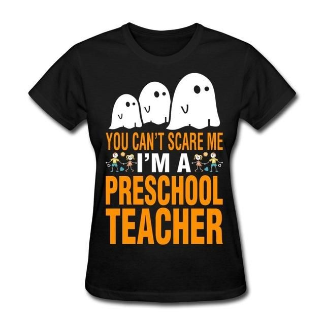 Halloween Scare Preschool Teacher Short-Sleeve Tee
