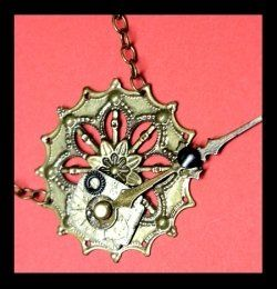 steampunk jewelry DIY... I could do this, if I could find enough pieces !