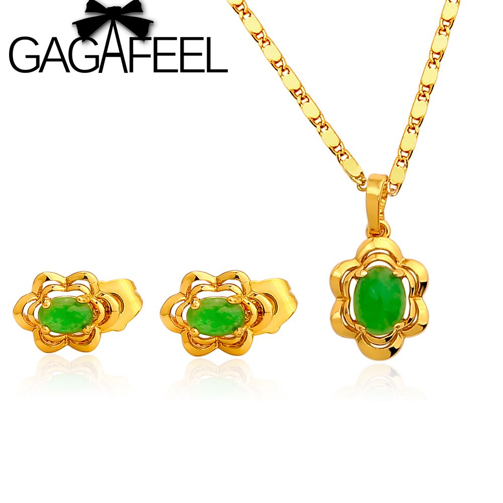 new arrived vacuum plating k gold jewelry set jewelry for